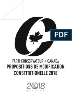 Propositions de modification constitutionelle - PCC 2018