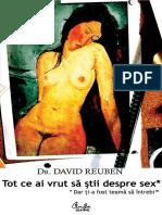 Tot ce ai vrut să ştii despre sex* dar ţi-a fost teamă să întrebi - Dr. David Ruben  ISBN