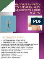 Categorizacion de La Perdida Auditiva y Desarrollo de La Audicion Terminado-1