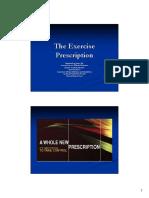 the excercises prescription