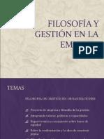 FILOSOFÍA Y GESTIÓN EN LA EMPRESA CON OBJETIVOS