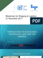 Blockchain Shipping and Logistics Presentation Sli