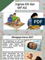Pentingnya ASI Dan MP ASI