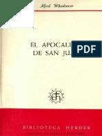 Wikenhauwer, Alfred. El Apocalipsis de San Juan. Comentario de Ratisbona 09. Ed. Herder, Barcelona, 1969