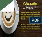 Cafe Mañana 25 Agosto