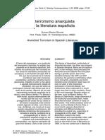 El Terrorismo Anarquista en La Literatura Española