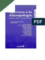 Maria Cristina Chiriguini- Apertura a La Antropología