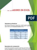 1operadores en Excel