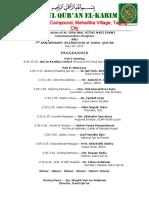 Darul Al-Isra Wal Mi'Raj Program 2015