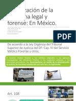 1.3 Organización de La Medicina Legal y Forense