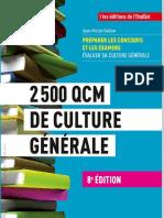 2500 QCM de Culture Generale (Fonction publique, Grandes Écoles...)