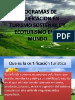 Certificacion en Turismo en El Mundo
