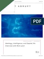 Land, Nick - Ideology, Intelligence, And Capital