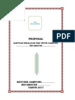 Contoh Proposal Bantuan Peralatan PKK