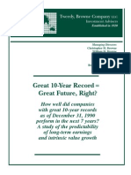 Great 10-Year Record Great Future, Right