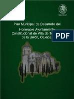PDM Villa de Tejúpam de La Unión 2017