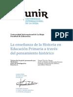 Verstraete y Maria Ana (2013). El Tiempo Historico y Su Ensenanza, Un Desafio Aun Vigente
