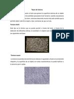 Tipos de Textura