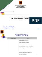Calibration Capteurs