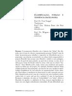 Classificação, posição e tendência em Filosofia
