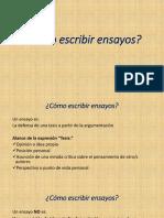 Cómo Escribir Ensayos-Presentación de Clase