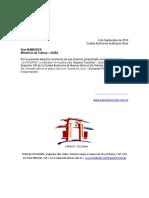 Carta Espacio Tucumán