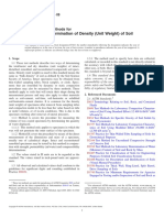 Standard Test Methods for Laboratory Determination of Density (Unit Weight) of Soil Specimens1 ASTM international