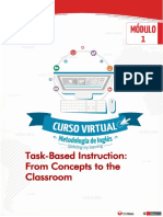 Task Based Instruction From Concepts to the Classroom