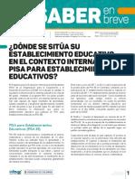 Donde Se Situa Su Establecimiento Educativo en El Contexto Internacional PISA