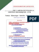 Support de Cours de Droit Des Assurances
