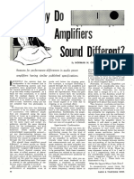 Why Do Amplifiers Sound Different - Norman H. Crowhurst (Radio & TV News, Mar 1957)