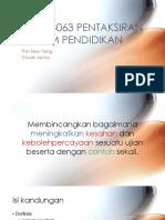 Edup 3063 Pentaksiran Dalam Pendidikan Tutorial3