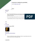 Western Digital MyBook Shutting Down Periodically