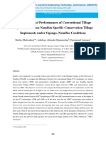 A Comparison of Performances of Conventional Tillage Implements Versus Namibia Specific Conservation Tillage Implements Under Ogongo, Namibia Conditions
