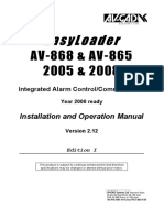 Alarma AV-GAD _AV865 & AV868 2005 y 2008 Installation Manual v2.12