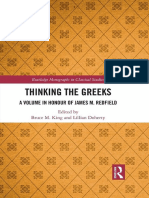 Thinking the Greeks - A Volume in Honor of James M. Redfield - Edited by Bruce M. King, Lillian Doherty
