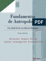 Fundamentos de Antropología Yepes y Aranguren LA CULTURA