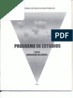 I Ciclo Programa Religión 1996