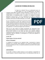 Legislacion de Vivienda en Bolivia