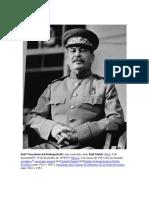 Biografía de Stalin