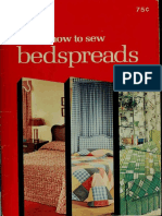How to Sew Bedspreads