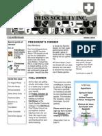 20010 October Newsletter Seattle Swiss Society