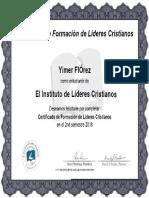 1 Certificado de Formacion de Lideres Cristianos Florez Yimer