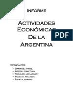 ACTIVIDADES ECONOMICAS DE LA ARGENTINA