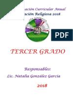 Progranual 3º Religión-2018