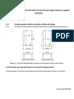 Tubos  de concreto CMARC - dimensões