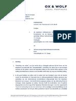 2018 08 23 - KG Land vs Jamaloodin-uitlevering | Pleitnota definitief OX & WOLF
