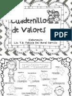 Cuadernillo de Valores