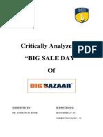 Big Bazaar Analyzing Maha Bachat Sale