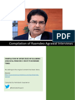 Raamdeo Agrawal Interviews (2013-Jun 2018)